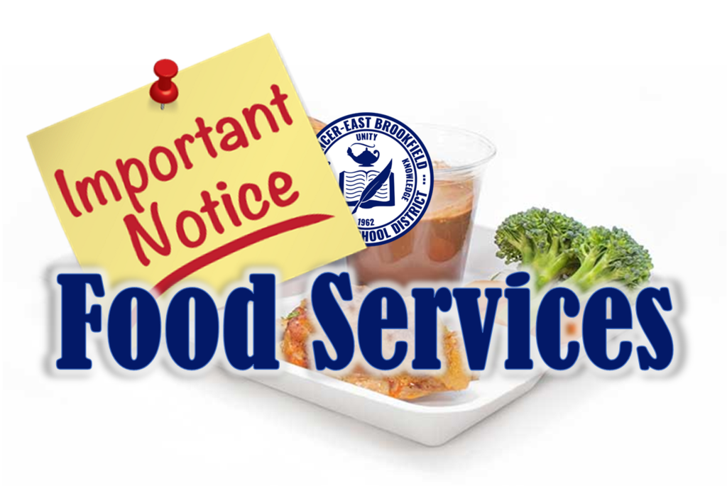food services important notice