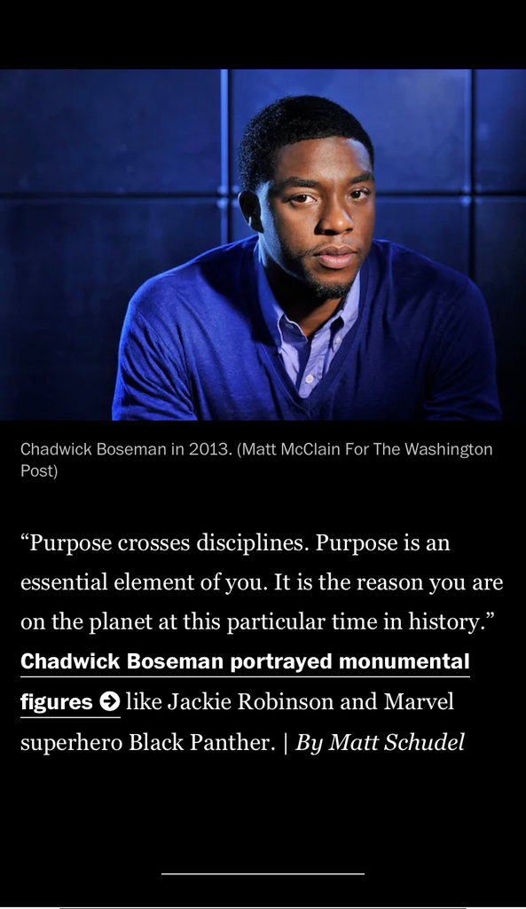 Purpose by Chadwick Boseman