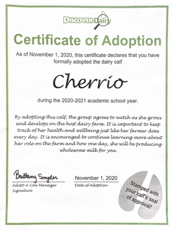Cheerio Adoption Papers